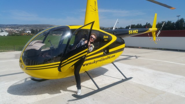 Flights on Helicopter Robinson 44 in Cyprus